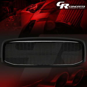BLACK HONEYCOMB MESH FRONT BUMPER GRILLE FOR 2006-2009 DODGE RAM 1500 2500 3500