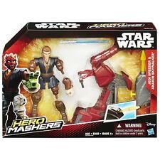 Star Wars Hero Mashers Jedi Speeder & Anakin Skywalker Action Figure   HASBRO B