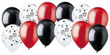 12 pc Casino & Poker Night Inspired Latex Balloon Party Decoration Cards & Dice