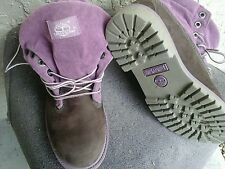 womens Timberland size 7 M  roll top mauve boot brown upper