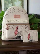 Loungefly Disney Little Mermaid Mini Backpack and Cardholder Set
