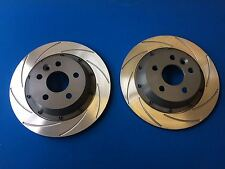 Focus RS Mk2 Rear Brake Discs and Bells Kit (original size) K-Sport Grooves