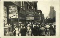Milwaukee WI Busy Scene Visible Signs Victor Volmar Real Photo Postcard xst