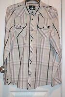 i Jeans By Buffalo Mens Western Shirt Sz XL  Plaid Long Sleeve EUC