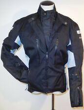 SPEED AND STRENGTH 3 IN 1 MOTO MOTORCYCLE RIDING JACKET BLACK & WHITE GRAY SZ S