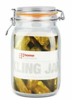 Home Basics 47 oz. Glass Pickling Jar with Wire Bail Lid - GJ01373
