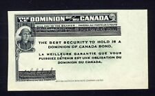 Dominion Of Canada Bond Coupon 1 1/2 by 2 3/4 inches Soldier helmeted head shown