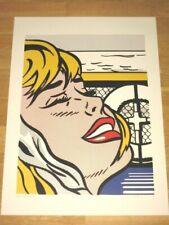 """ROY LICHTENSTEIN POSTER - """"SHIPBOARD GIRL"""" FACE POPART in MINT"""