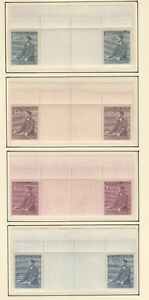 Böhmen & Mähren, Nr. 85-88, 8 Zwischenstegpaare, postfrisch/ungebraucht