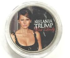 Colorized  2016 JFK Kennedy Half Dollar US Coin MELANIA TRUMP