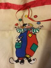 vintage hand made children's bag for blocks toys cars etc clown balls dalmation