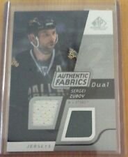 08-09 2008-09 SP GAME USED SERGEI ZUBOV DUAL AUTHENTIC FABRICS JERSEY STARS