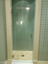 "FRAMELESS SHOWER DOOR  24""-28"" x 72"" 76"" or 78""  3/8 GLASS,/HARDWARE COMBO"