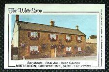 Matchbox label Pub The White Swan Misterton Crewkerne Somerset MC505