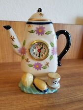 Vintage Ceramic Coffee Pot Clock