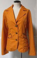MONTANACO BUTTE MONTANA FALL ORANGE NYLON COTTON BLAZER JACKET SATIN TRIM SZ XL