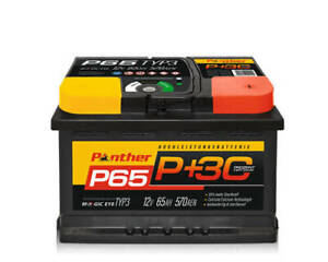 Autobatterie Panther Black Edition +30% 12V 65Ah 570A P65