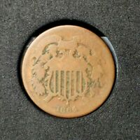 1864 Two Cent Piece~AG~About Good~Scarce Date~!