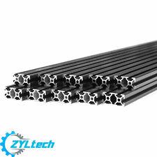 Black 2040 T-slot 20mm 40mm Zyltech  Aluminum Extrusion 1m X10 10 Pcs 10m