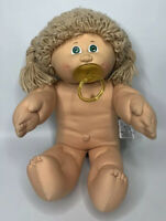 Vintage Xavier Roberts Cabbage Patch Doll Blonde Girl Pierced Ears Pacifier 1985