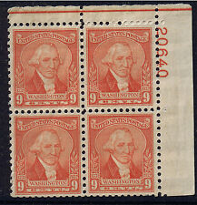 GEORGE WASHINGTON by WILLIAMS Scott 714 PNB4 NEAR MLH US Stamps 1932 9c ~FreeS&H