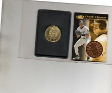 2-frank thomas chicago white sox card lot 1997 pinnacle mint 2 and coin 2