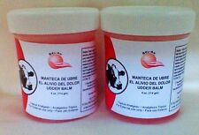 2 Manteca De Ubre Red Vaquita Pain Relieving Ointment Muscle Pain UDDER BALM 4oz