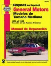 NEW - General Motors Modelos de Tamano Mediano 1970 al 1988 by Haynes