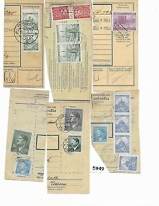 #5949     1939 - 1945 Third Reich  Bohemia & Moravia Stamps / Cancel on paper
