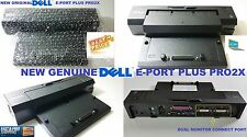 NEW GENUINE Dell Docking Station EPort Plus Replicator PRO2X E6400 E6410 E6