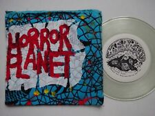 "HORROR PLANET Cow Pies From Outer Space - Clear Vinyl 7"" Hand Painted Sleeve EX"