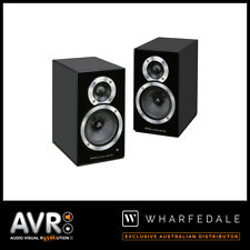 (NEW) Wharfedale DS-1 Active Bluetooth Bookshelf Speakers (BLACK)