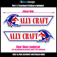 Ally Craft 48cm stickers x2 port & starboard decals fishing boat tinnie #A005