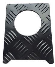 Tankdeckel Abdeckung (Groß) - 2mm Tränenblech - pulverbeschichtet schwarz -