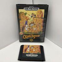 Sega Genesis Game QuackShot Starring Donald Duck 1991 Cart Case No Manual Tested