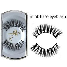 Elegant 100%Black Real Mink Soft Long Slender Eye Lashes Handmade False Eyelashe