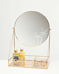 Oliver Bonas Women Paradise Etched Palm Tree Dressing Table Mirror