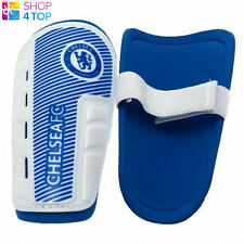 CHELSEA YOUTH BLUE WHITE SHINPADS SHIN GUARDS PADS OFFICIAL FOOTBALL SOCCER CLUB