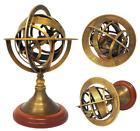 BRASS Nautical Collectibles Home Decor Brass Zodiac Globe Table Top Armillary