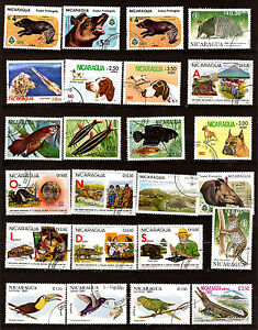 Nicaragua Animals Wild And Domestic, Birds, Various G6