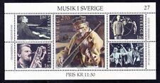 Sweden 1473 MNH 1983 Musicians Souvenir Sheet of 5 (See Description)