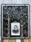 Old Picture Cabinet CDV Behind Glas Remembrance Card? Memory Lauscha Steinach