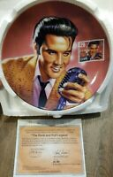 """Elvis Presley 8"""" The Rock and Roll Legend Collector Plate Commemorating the King"""