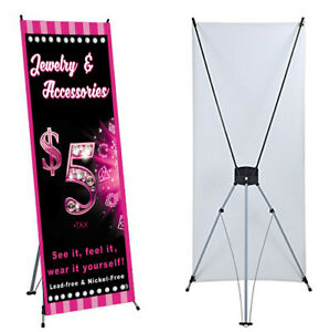 "Jewelry Banner X stand Included 24""x 63"" Events For Paparaz  Consultant Sales"