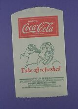 Coca Cola - Original 1930s Advertising Dry Serve Sleeve depicting Pilot