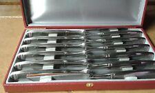 Coffret menagere 12 couteaux metal argenté lame inox ou acier  jean philip