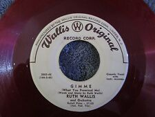 Ruth Wallis, Gimme / A Long Long Time  (Red Vinyl)