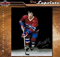 GUY LAPOINTE Signed & Inscribed Montreal Canadiens 8 x 10 Photo - 70403
