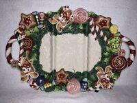 Fitz And Floyd 1996 Christmas Platter Sugarplum Design