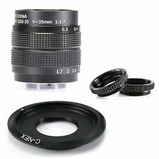 Fujian 35mm f/1.7 CCTV cine lens for Sony NEX E-mount camera & Adapter bundle